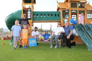 Make A Wish and Martin Harris Construction build Jairis a backyard park.